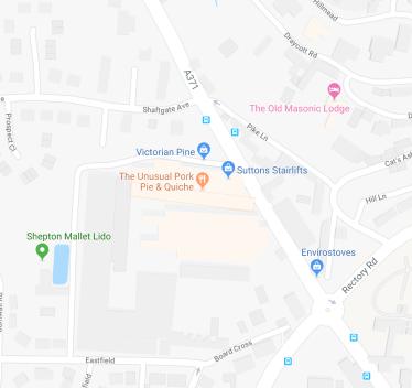 shelfbar location on a map