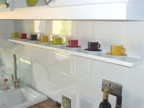single floating shelf