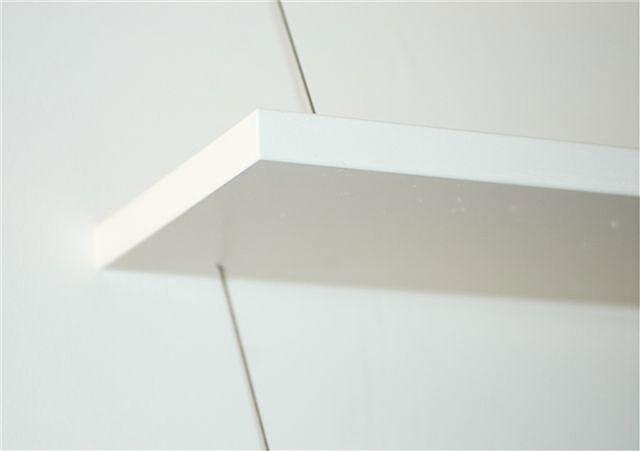 straight edge floating shelf
