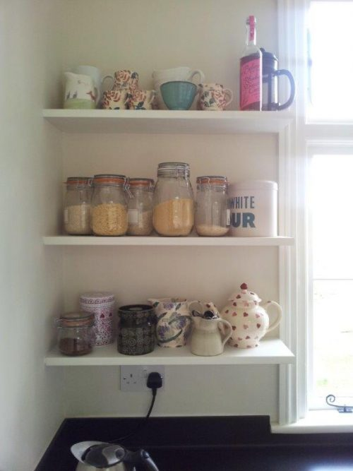 single corner shelves