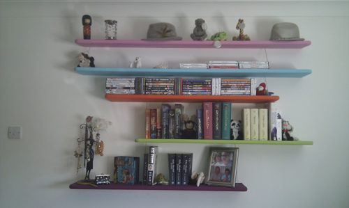 floating bookcase shelves